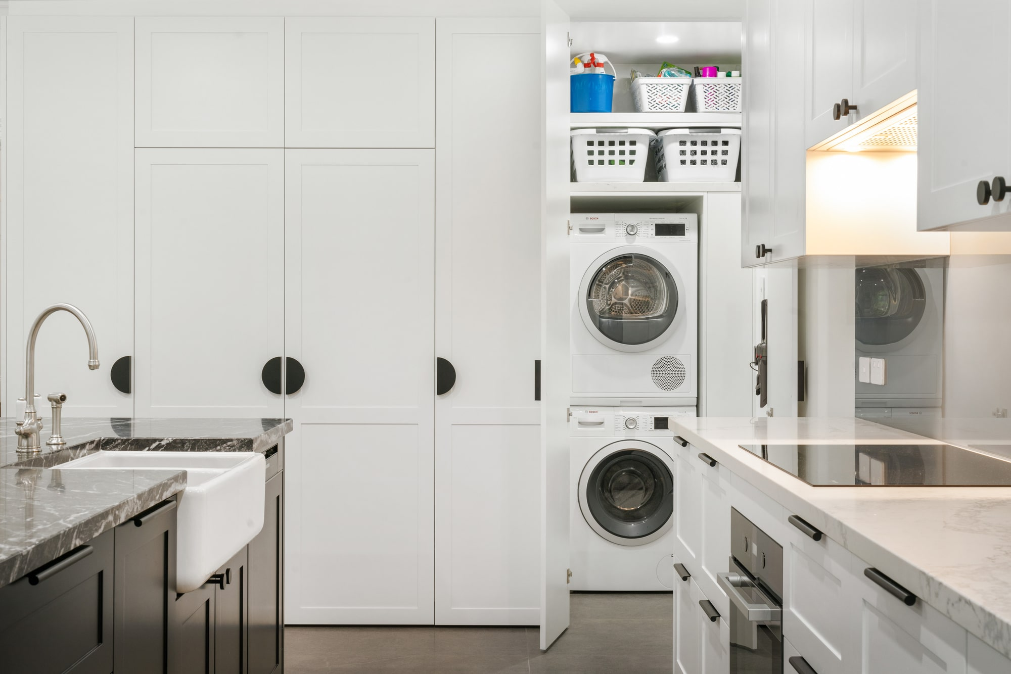 renovated laundry in kitchen